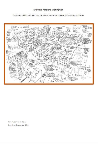 Plaatje van de voorkant van het rapport van de Evaluatie Woningwet van de commissie Van Bochove