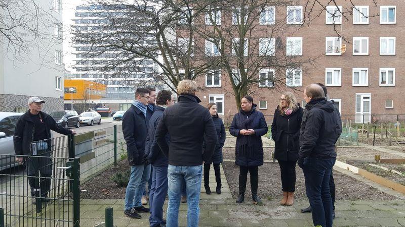 Rondleiding door Reimerswaalbuurt in Amsterdam tijdens wintercursus