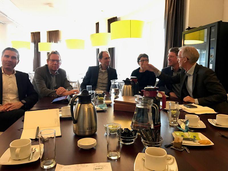 In gesprek met Brabantse corporatiebestuurders bij Bergopwaarts in Deurne