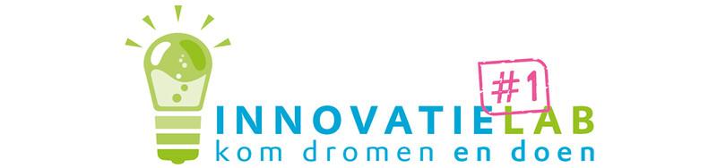 Logo Innovatielab met tekst en groen lampje