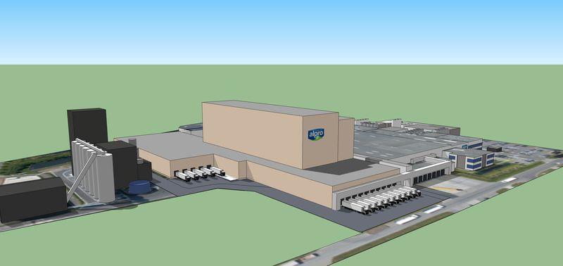 Simulation expansion site at Wevelgem, BE | Media Centre | Alpro