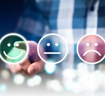 Smilefjes for rangering av kundetilfredshet