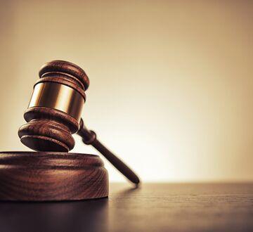 A judges hammer