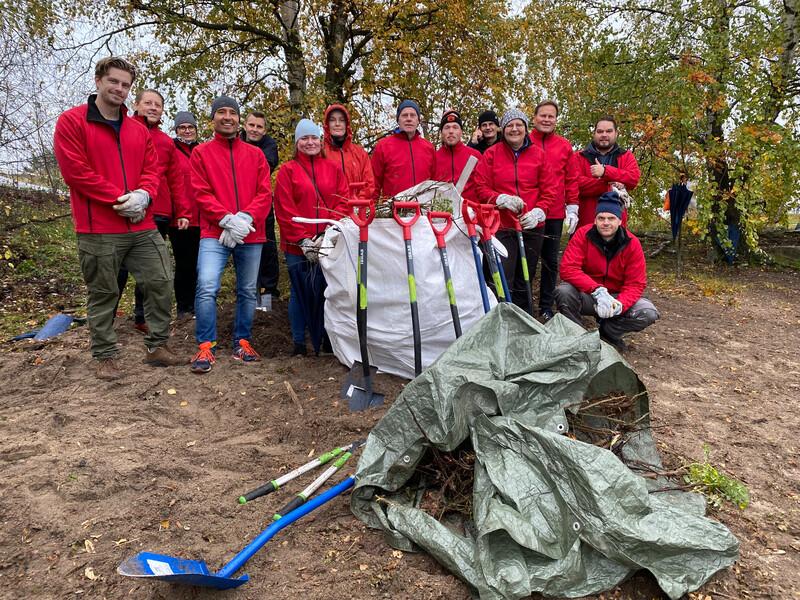 Paikallisia viheralueita ympäri Eurooppaa uudistettiin Logicorin vapaaehtoistoiminnan päivänä
