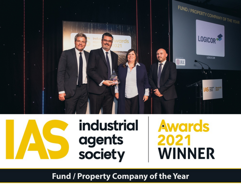 Logicor UK wins Property Company of the Year at the 2021 IAS awards