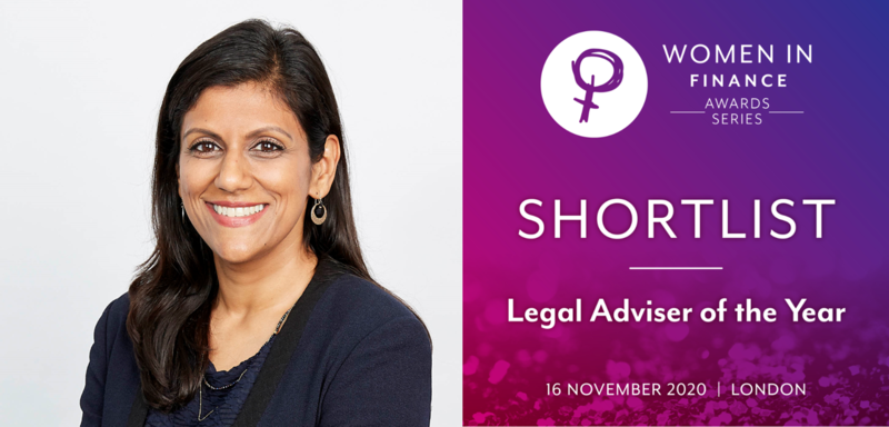 Logicor General Counsel Sheena Singla shortlisted in Women in Finance Awards