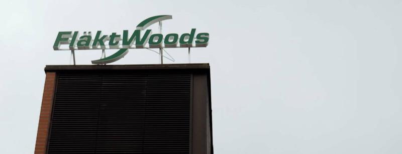Moderni logistiikkakeskus Fläkt Woodsin kasvun moottorina