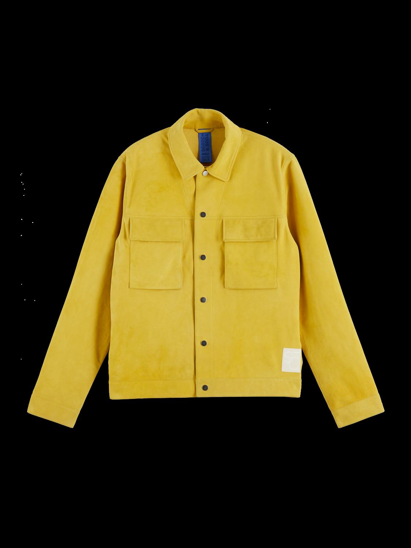 Men 100% soft suede workwear jacket