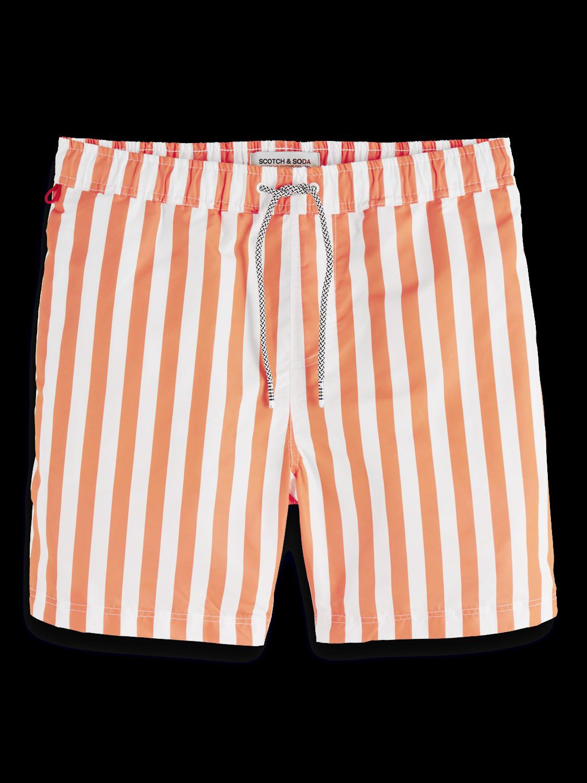 Men Bright striped swim shorts