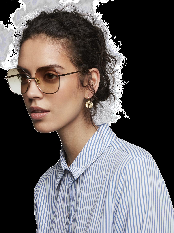 Damer Orchard - Oversized åttakantiga solglasögon