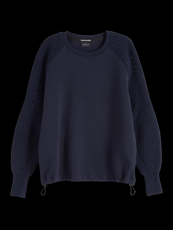 Women Mixed Crew Neck Sweater