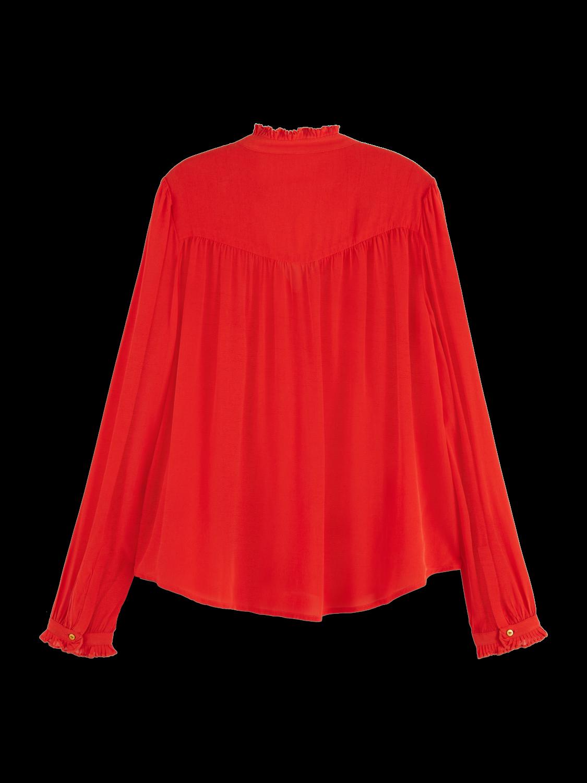 Damer Feminine long sleeve pleated shirt