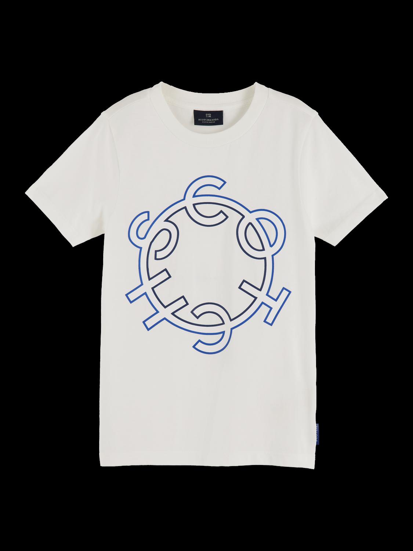 Pojkar 100% cotton crew neck logo t-shirt