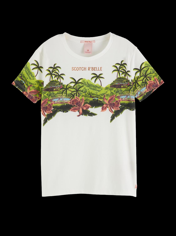 Girls Scenery Print Artwork T-Shirt