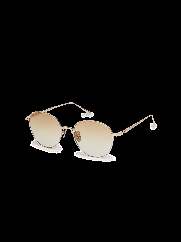 Men Abbot - Round-Frame Gold-Tone Sunglasses