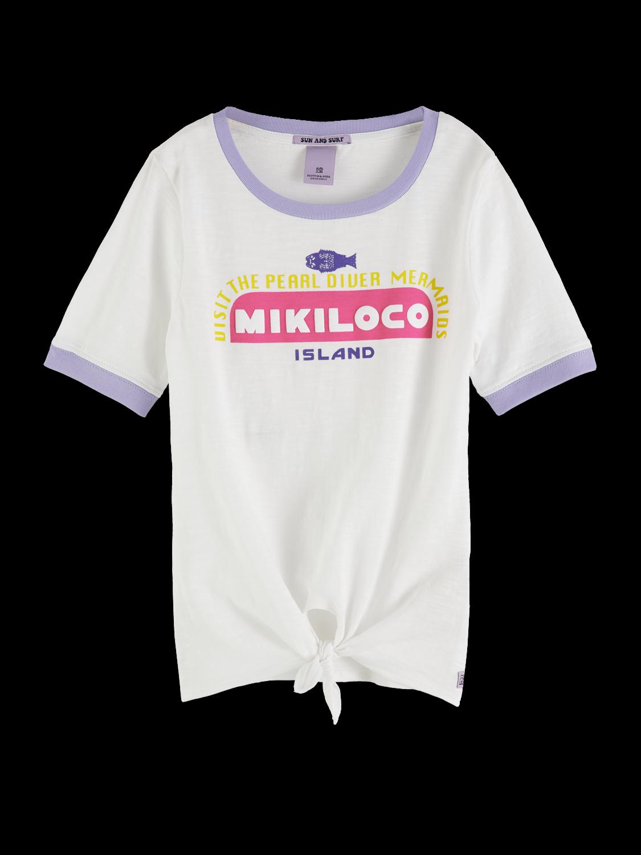 Girls Knot Front T-Shirt