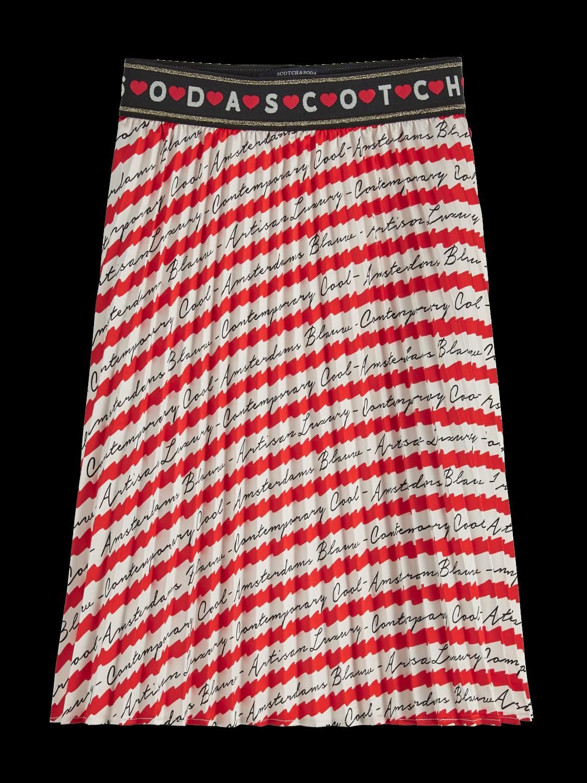 Flickor Mönstrad plisserad kjol