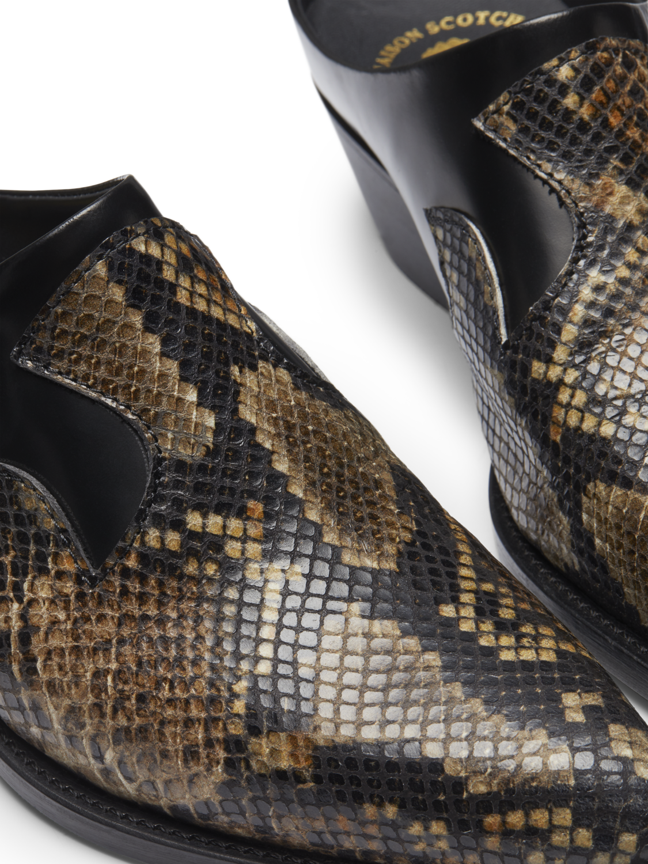 Women Corall - Faux Snakeskin Mules