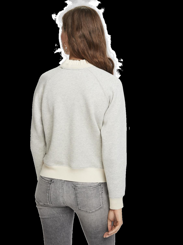 Women Ruffled Collar Sweater