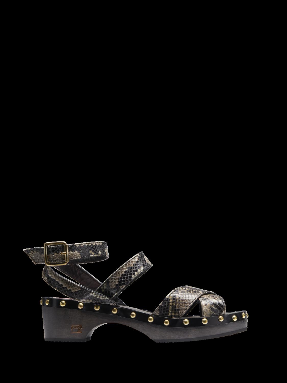 Women Cleo - Faux Snakeskin Clog Sandals
