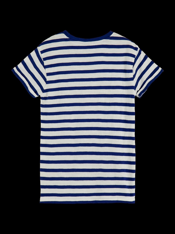 Girls Organic cotton striped short sleeve t-shirt