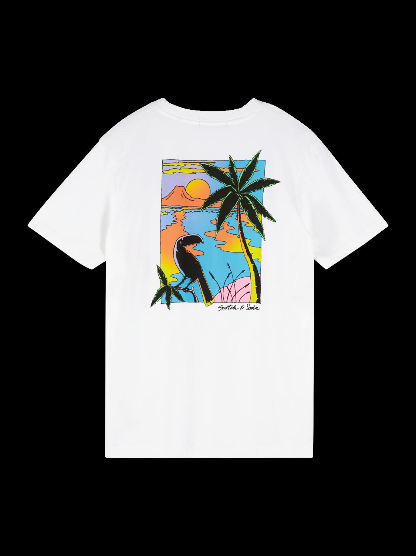 Herrar T-shirt med tecknat tryck