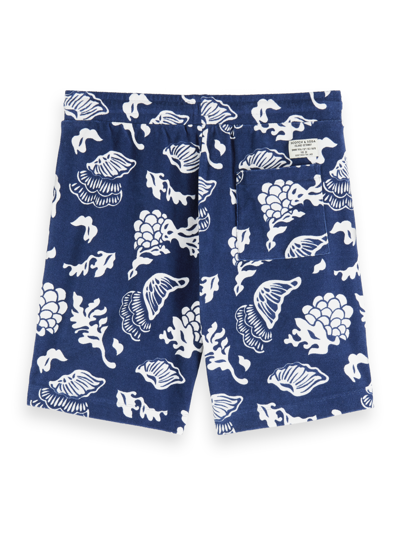 Men Printed Towelling Sweat Shorts