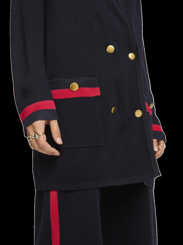Women Wool Blend Knitted Blazer