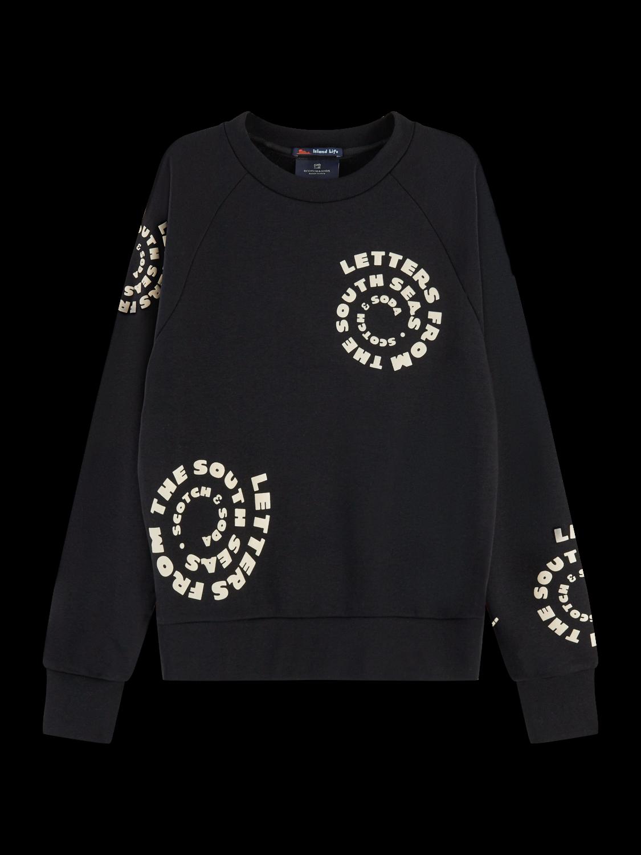 Damer Textured long sleeve artwork sweater