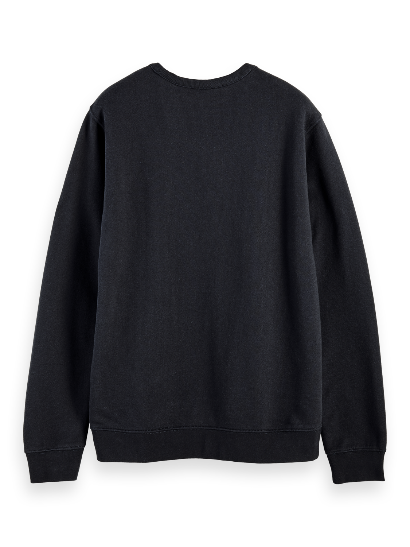 Herrar 100% cotton Blauw logo crew neck sweatshirt