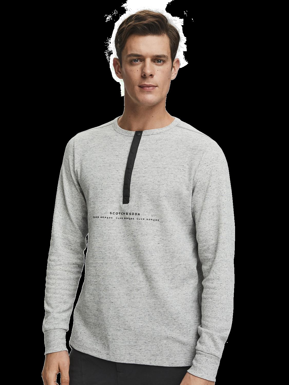 Men Basic Grandad T-Shirt