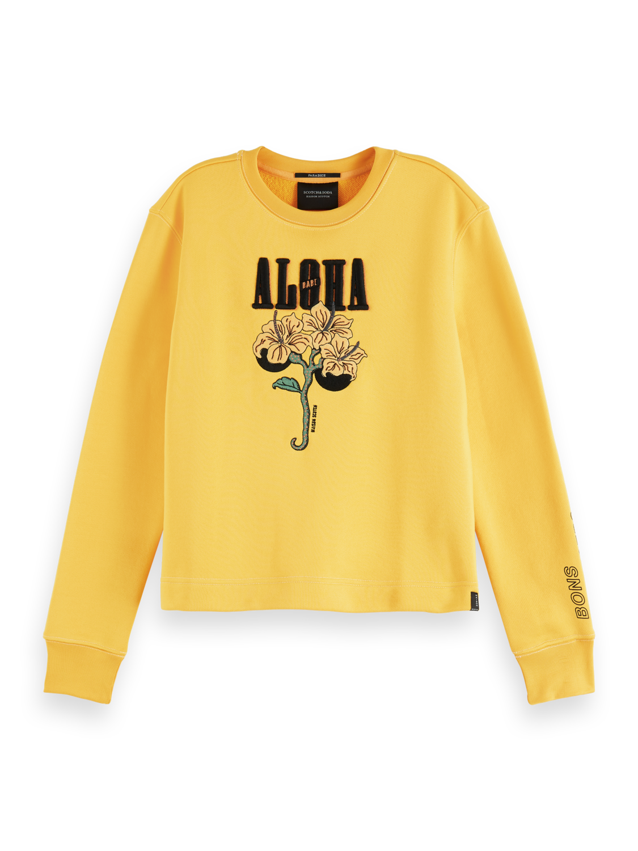 Women Aloha artwork sweater