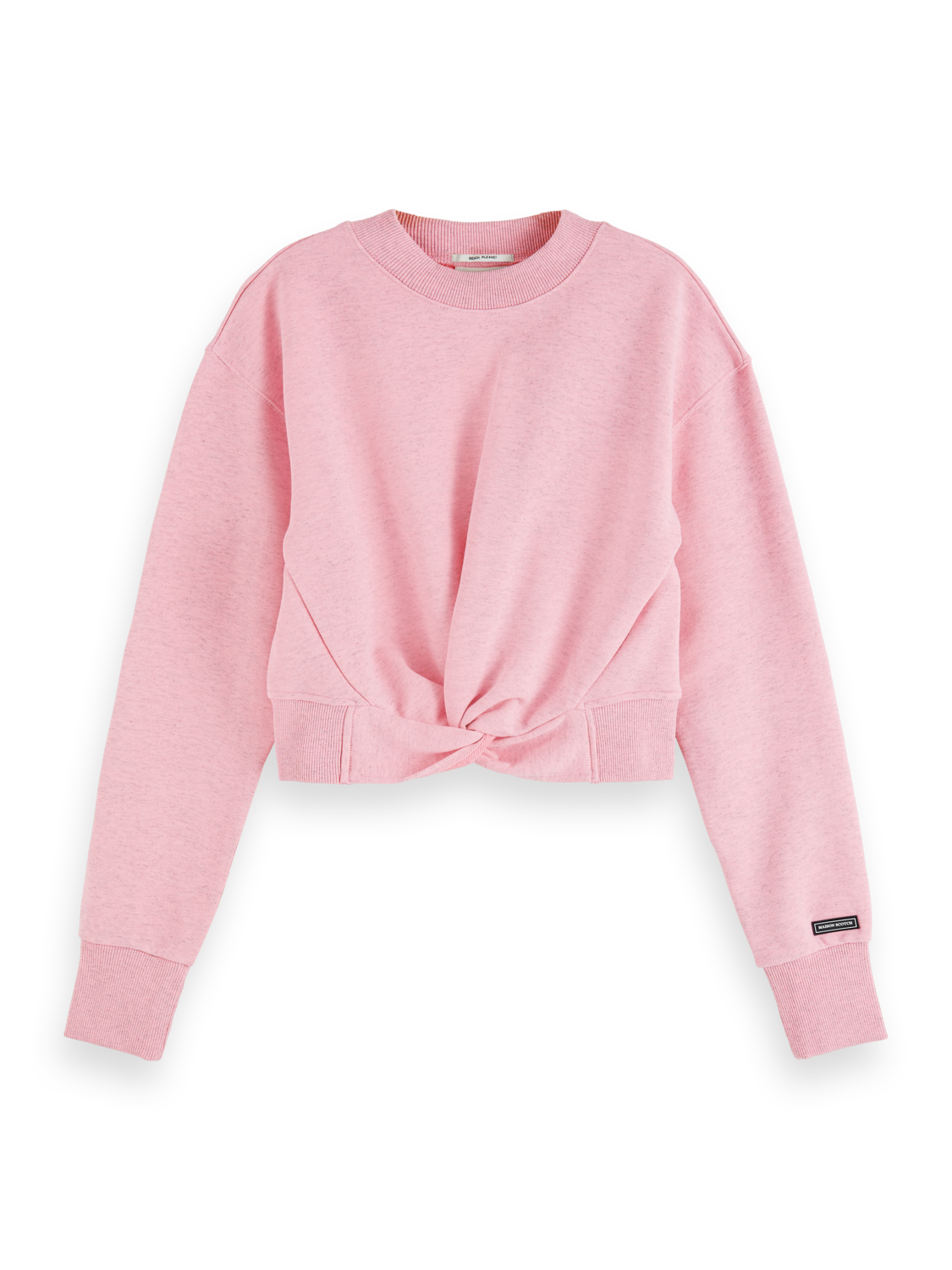 Women Cropped knot front sweater