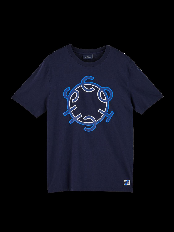 Herrar 100% cotton short sleeve logo t-shirt