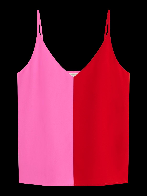 Women Colour block tank top