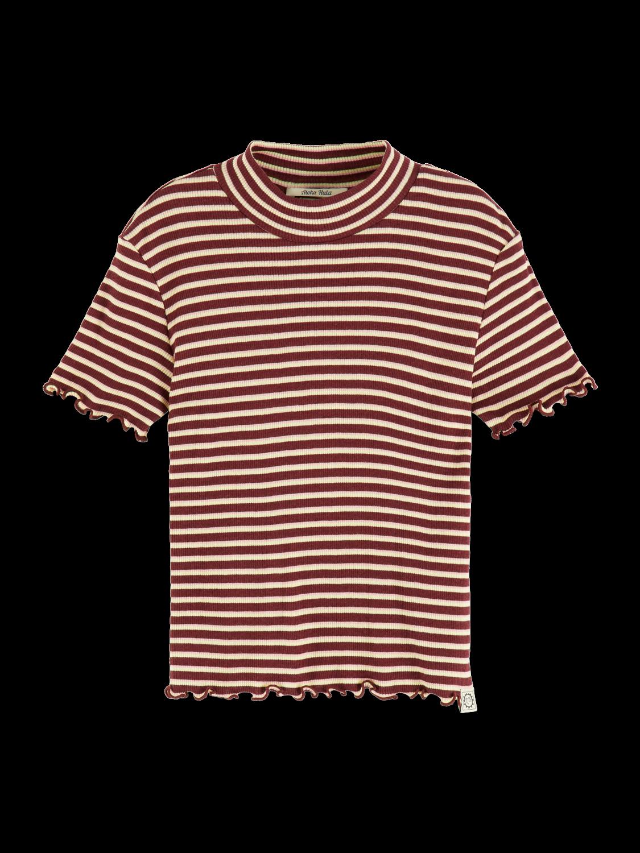 Girls Rib knitted t-shirt