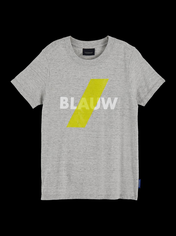 Pojkar 100% cotton Blauw branded short sleeve t-shirt