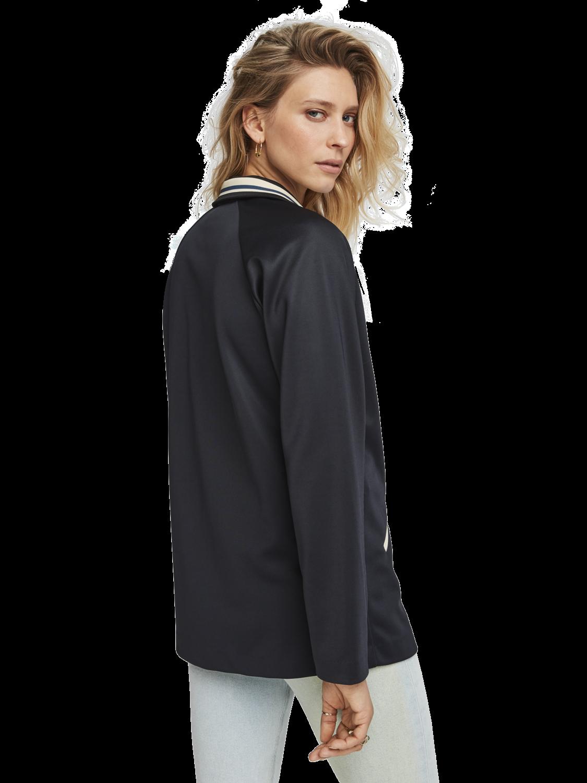Women Sporty Nylon Blazer