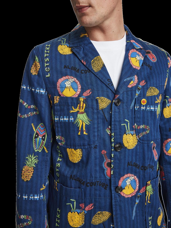 Men Printed blazer