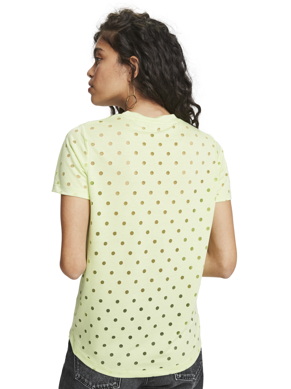 Damer Burnout-mönstrad t-shirt