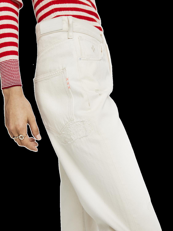 Damer Extra Boyfriend Fit Jeans - Ecru Love