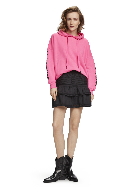 Women Pink oversized hoodie