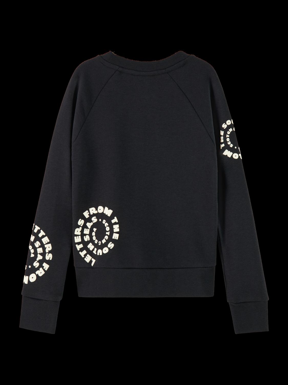 Girls Cotton blend branded long sleeve sweatshirt