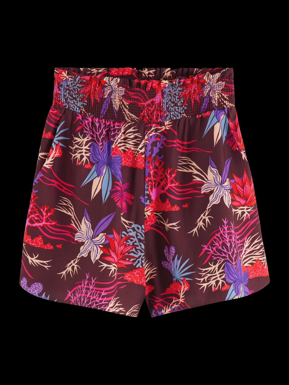 Women High waisted printed shorts