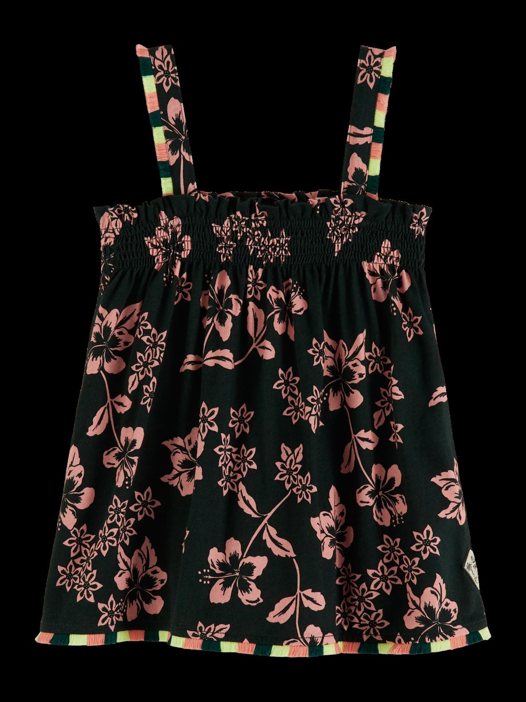 Flickor Mönstrat linne med A-linje