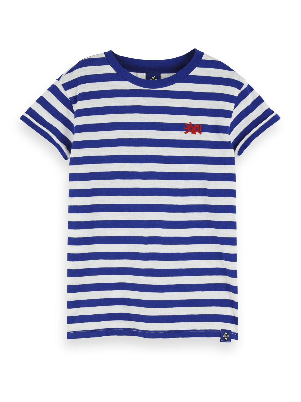 Girls Short Sleeved Striped T-Shirt