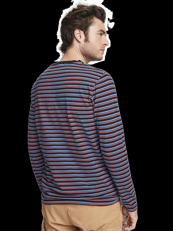 Men Stretch cotton striped t-shirt