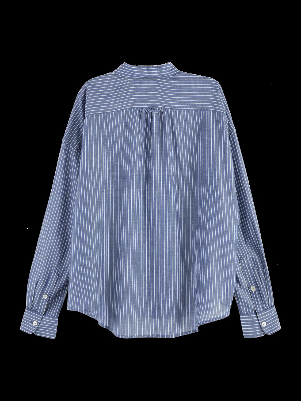 Women Long sleeve striped button up shirt