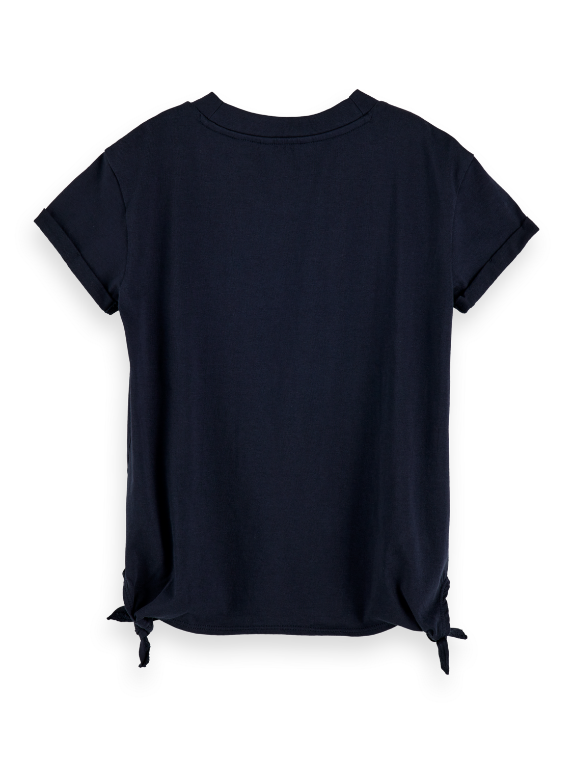 Flickor 100% cotton loose fit side knot t-shirt