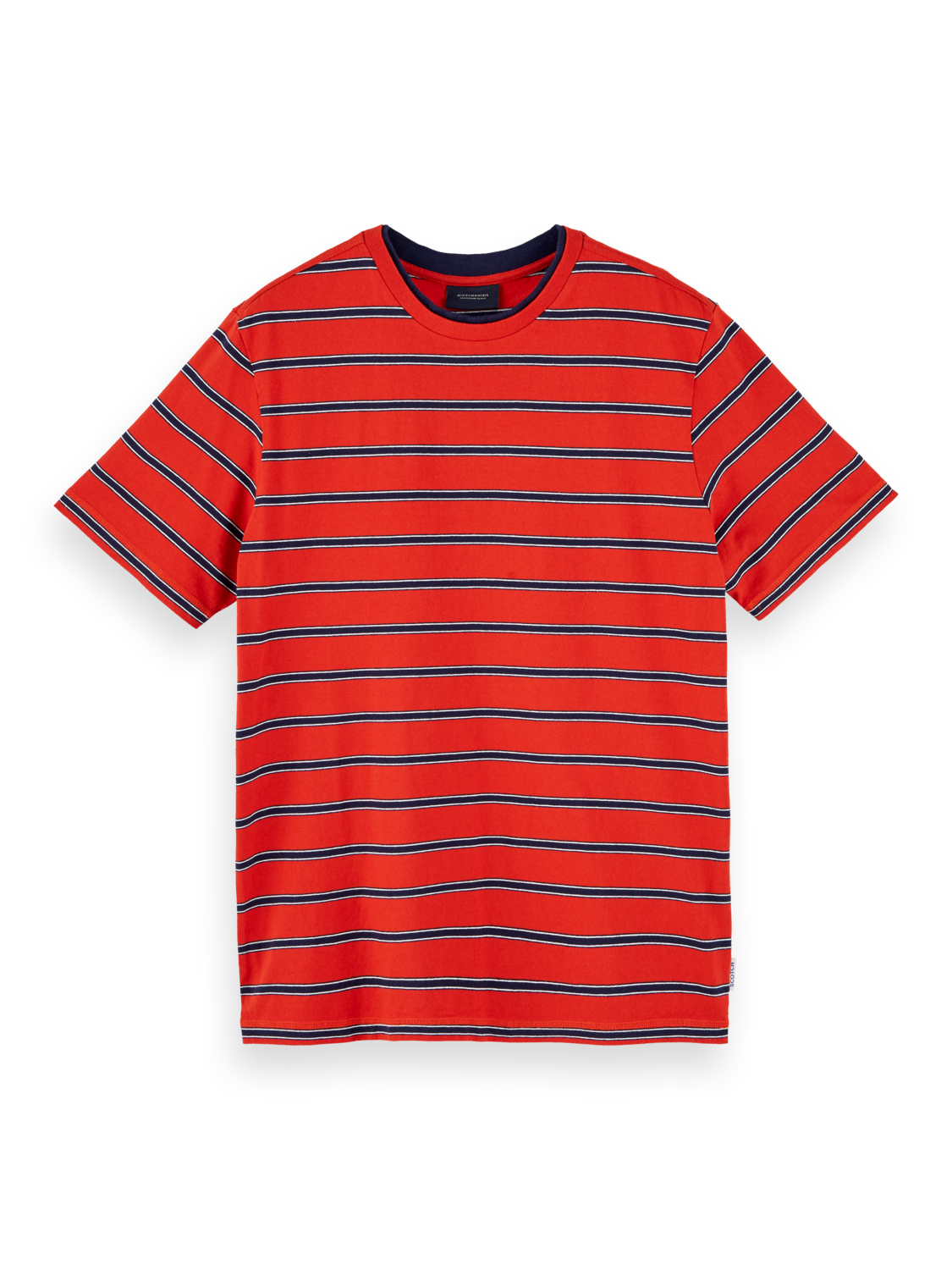 Men 100% cotton striped short sleeve t-shirt